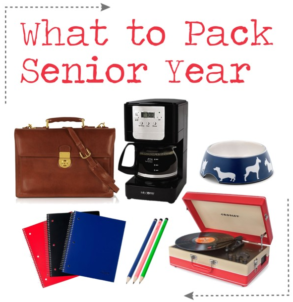 What to Pack Senior Year of #College