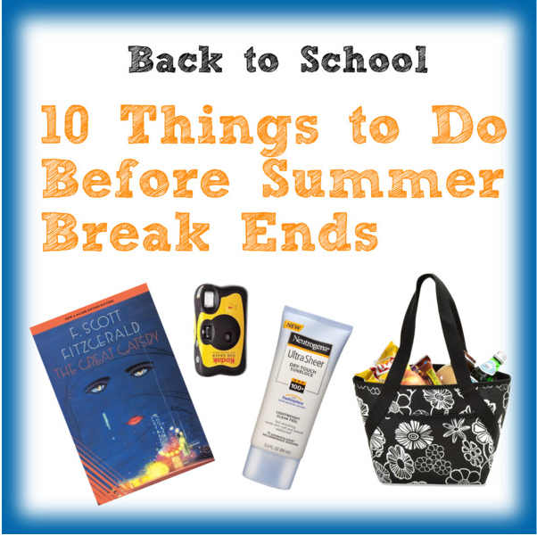 10 Things to Do Before College Summer Break Ends #College